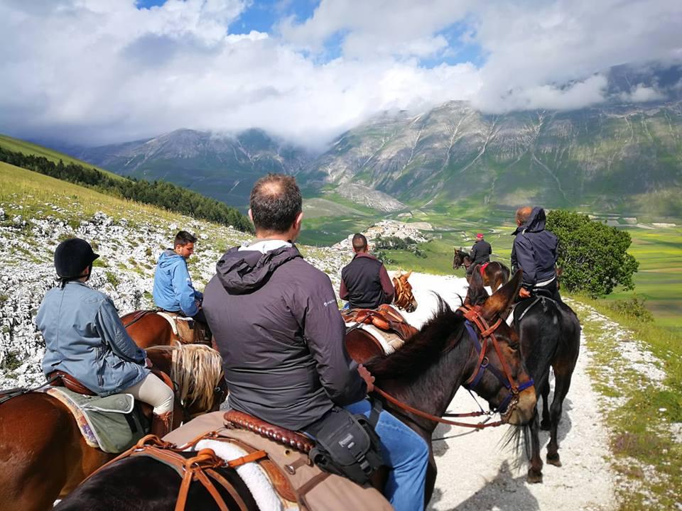 giornata a cavallo a Norcia